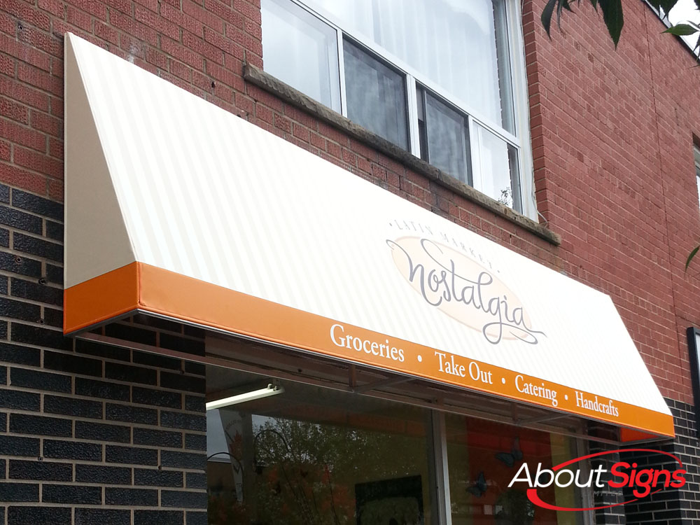 Custom Awnings Storefront Awnings About Signs Limited