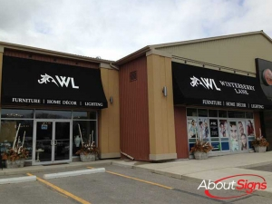 Retail storefront awning Oakville