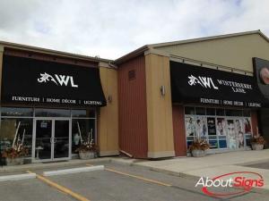 Retail storefront awning Oakville
