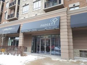 Padgett Business Services Awning Installation - Burlington, Ontario