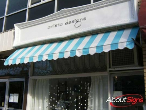 Striped awning Oakville