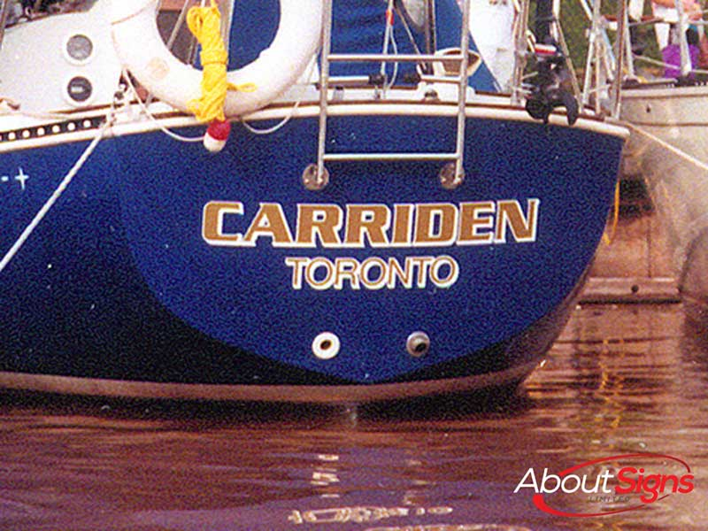 Boat Graphics Wraps Decals And Lettering In Halton