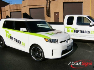 Fleet car wraps decals Oakville