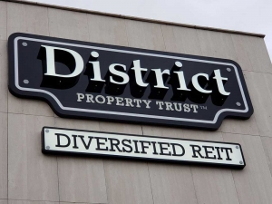 District Property Trust Channel Letters Close-Up