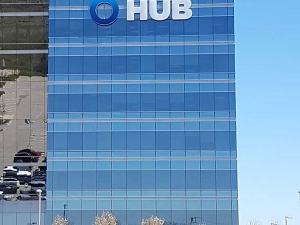 Hub International Sign from distance