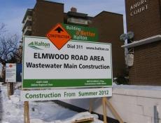Preparation construction sign