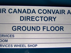 Air Canada Directional Sign