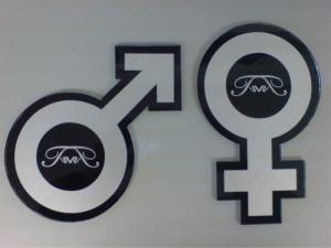 Clever Restroom Sign
