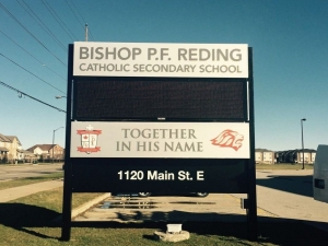 Electronic Message Center Sign - Bishop P F Reding