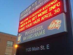 Bishop Reading School Milton - night