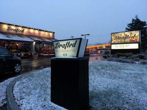 Drafted illuminated sign Oakville