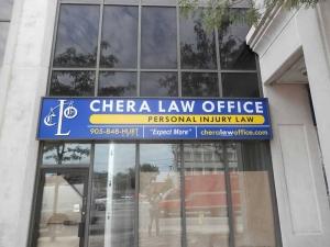 Chera Law Firm Mississauga Illuminated Sign Box