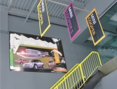 colourful indoor banner