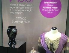 Violet vinyl graphics at Oakville museum