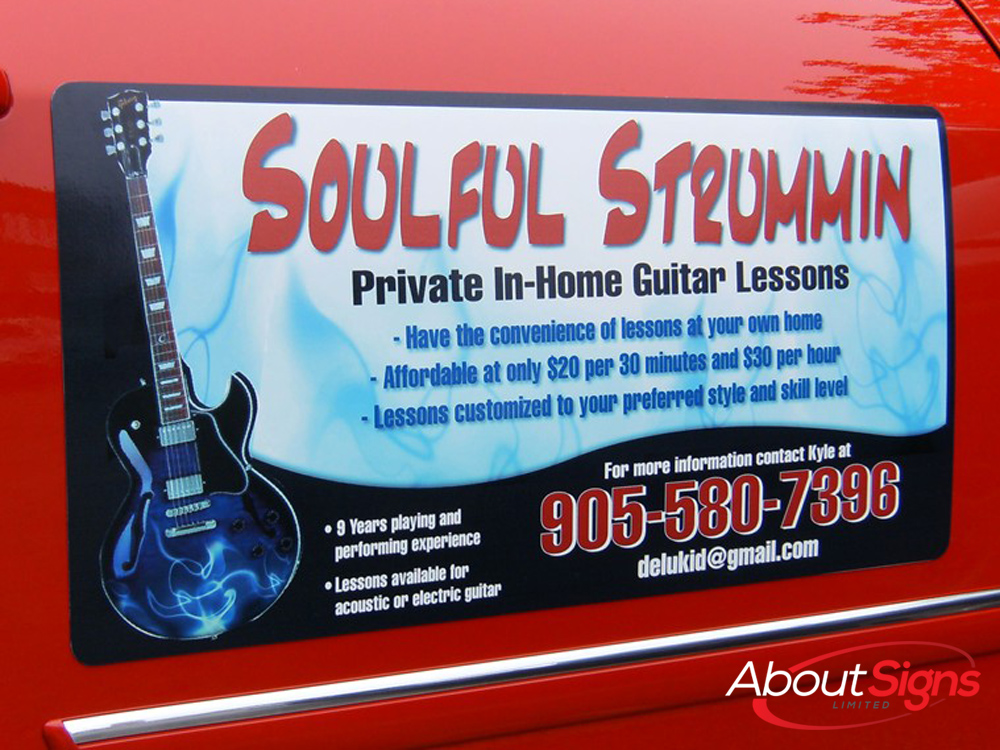 Magnetic Signs Custom Vehicles Graphics Oakville
