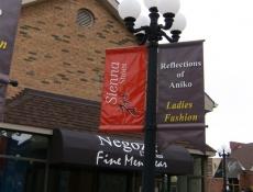 Post outdoor banner