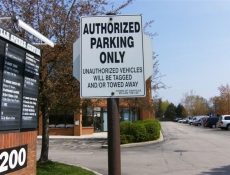 authorized only parking sign