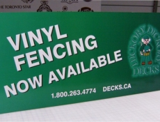 fencing poster board