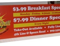 menu print poster