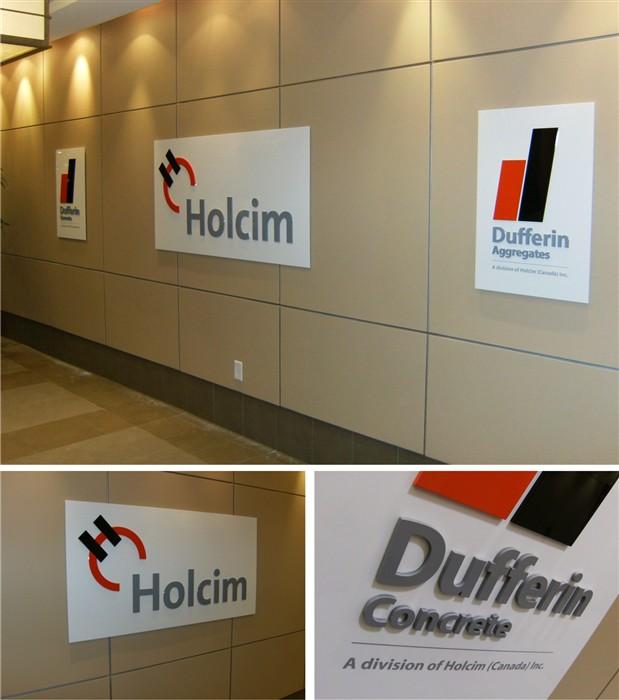 Custom Interior Business Signs Reception Signs