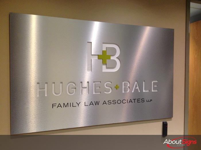 Custom Interior Business Signs Reception Signs Oakville On