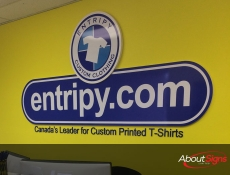 Digital print acrylic reception sign