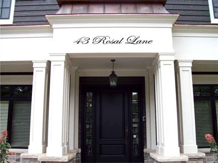 Residential Signs Cursive Address For Your Home Oakville