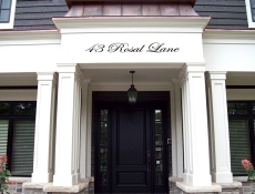 above door residential sign
