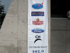Advertising banner at a special event