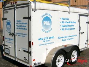 cut vinyl trailer decals Oakville