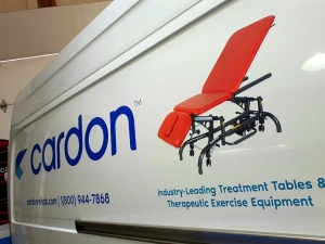 Cardon Rehab Van Graphic Closeup