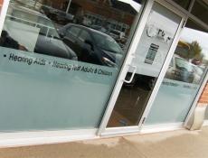 Storefront letter window sign