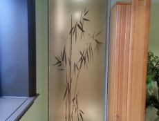 Bamboo window sign