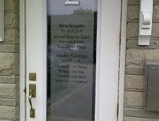 Window door sign