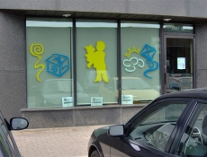 storefront picture window sign