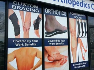 Orthopedic Store window graphics
