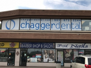 Chagger-Dental-window-signage