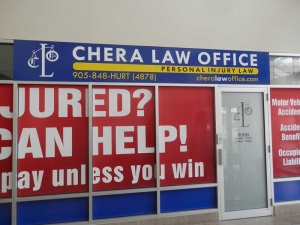 Chera Law Firm Window Graphics