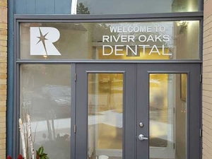 Window graphics River Oaks Dental