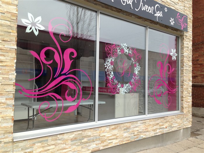 Pink window graphics