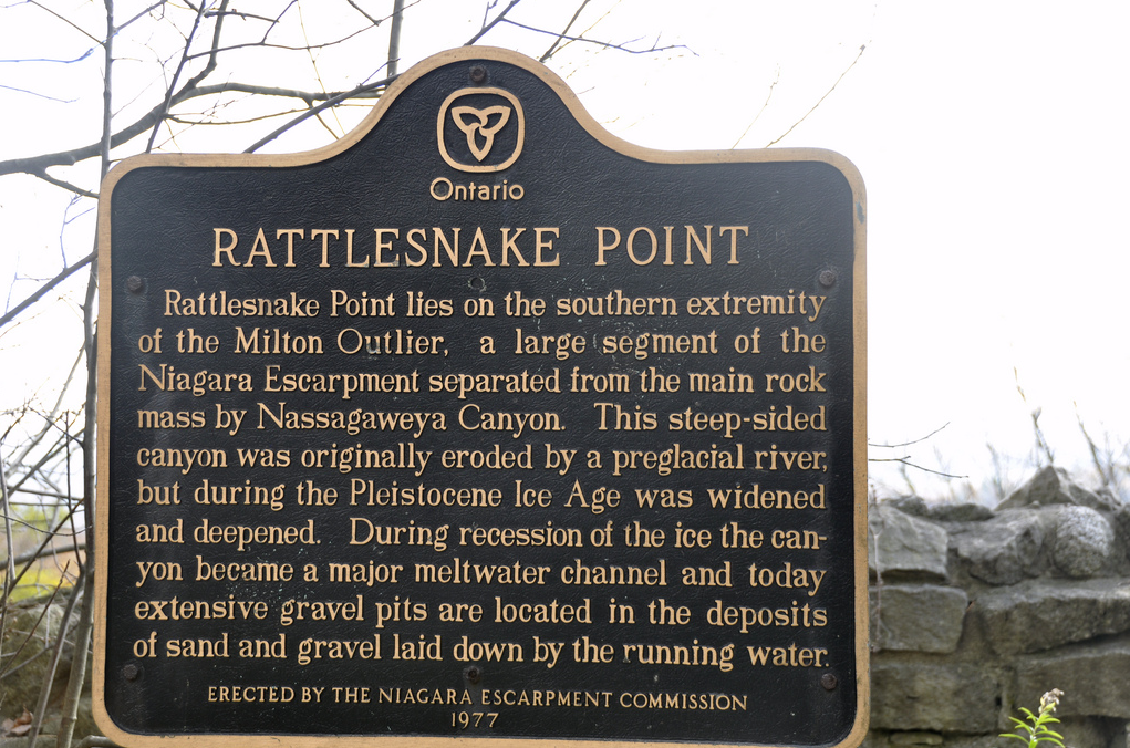 Rattlesnake Point Sign