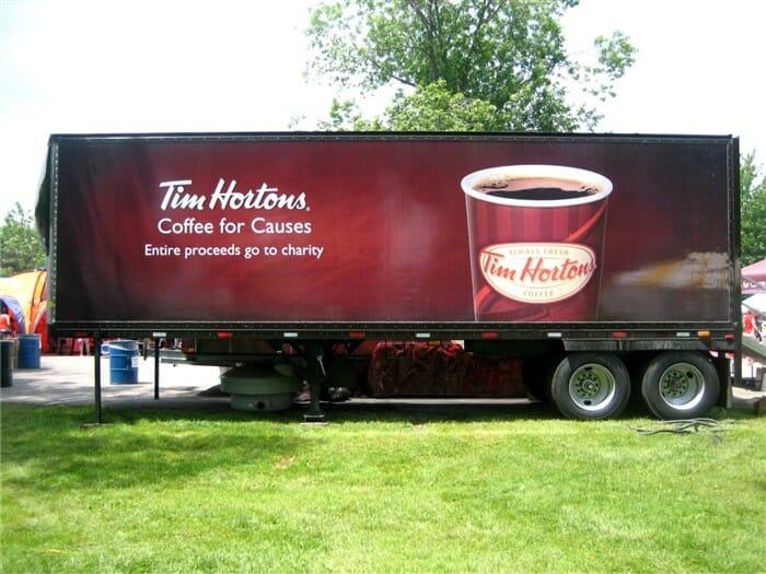 Tim Hortons Logo Truck Wrap