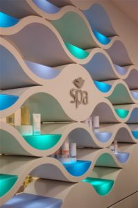 spa reception wall