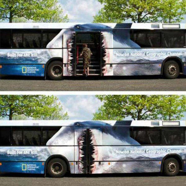 Shark Bus Wrap