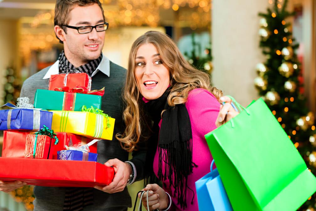 mall Christmas signs