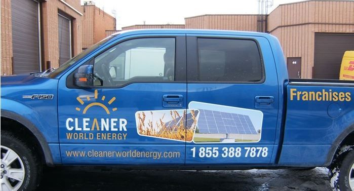 truck graphics for cleaner world energy