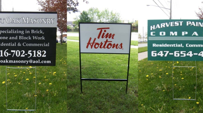 The Benefits of Temporary Outdoor Ground Signs