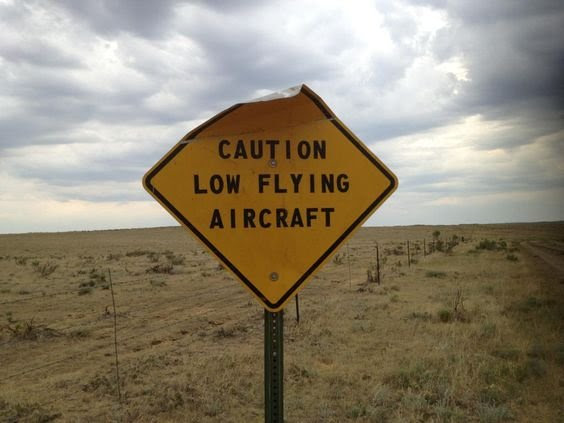 watch out for airplanes
