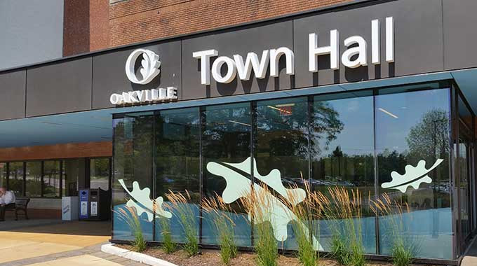 Oakville Town Hall Window Decals