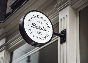 Bordo Hanging Sign